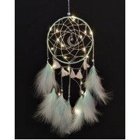 DC131 - White moonlight feather dream catcher