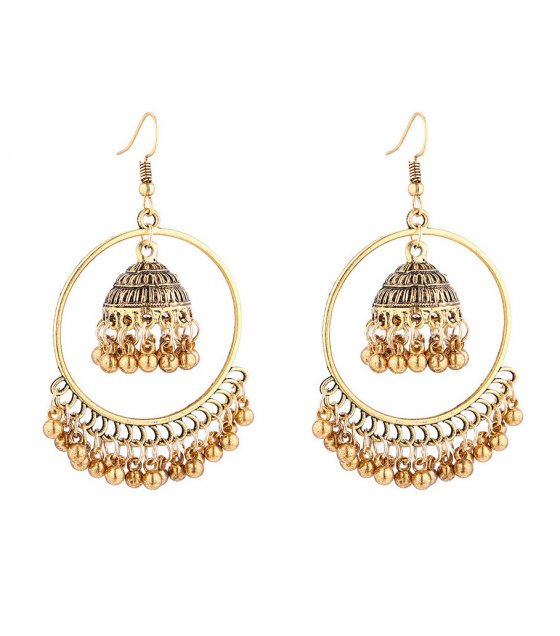 E1003 - Wind chime tassel earrings