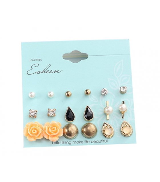 E1004 - Retro fashion rose drop earrings