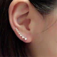 E1009 - Korean long diamond stud earrings