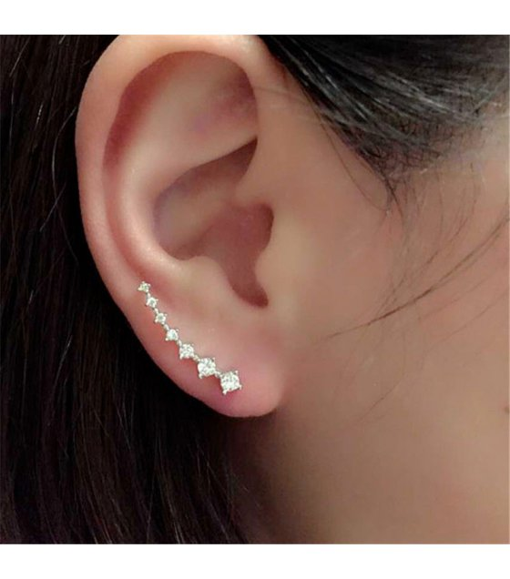 E1009 - Korean long diamond stud earrings