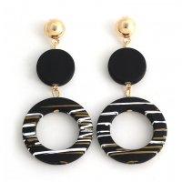 E1010 - Simple temperament acrylic circle earrings