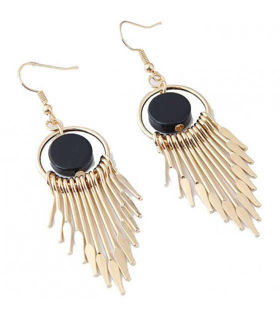 E1018 - Simple tassel temperament earrings