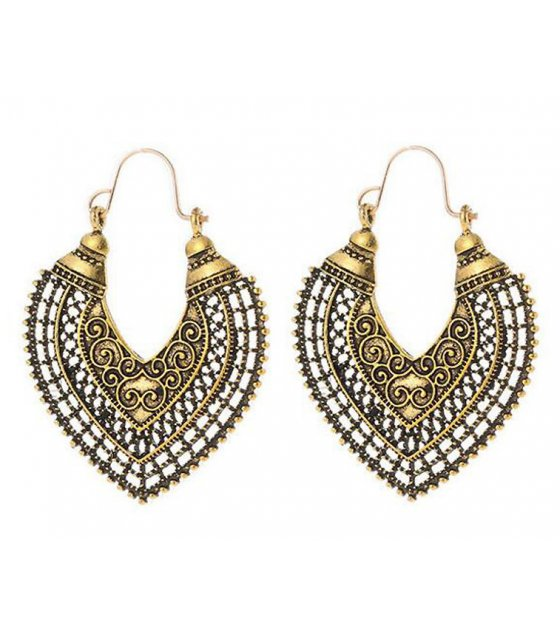 E1019 - Bohemian Heart love geometric earring