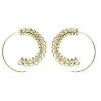 E1020 - Simple round rotating earrings
