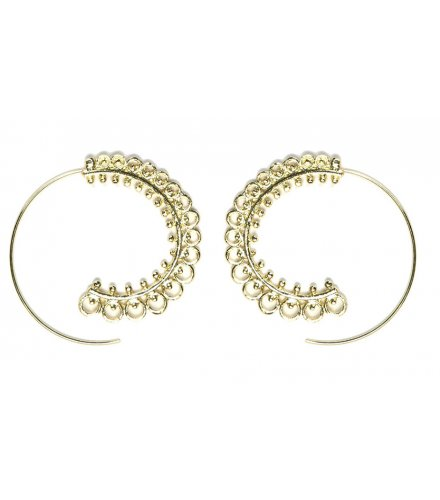 E1020 - Simple round rotating earrings