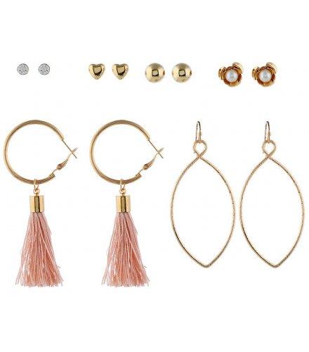 E1022 - Flower Tassel Earrings
