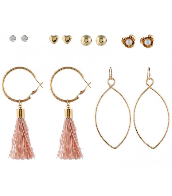 E1022 - Flower Tassel Earrings
