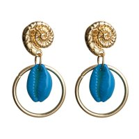 E1026 - Blue Bead Earrings