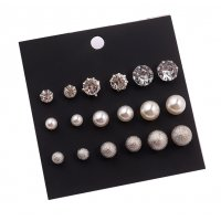 E1029 - Pearl ball earrings