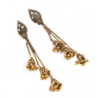E1033 - Retro chain tassel earrings