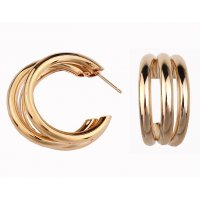 E1038 - Semi-circular metal earrings