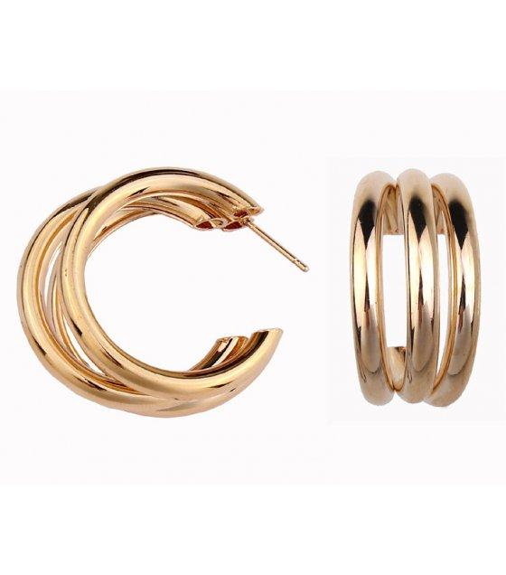 E1038 - Semi-circular metal earrings