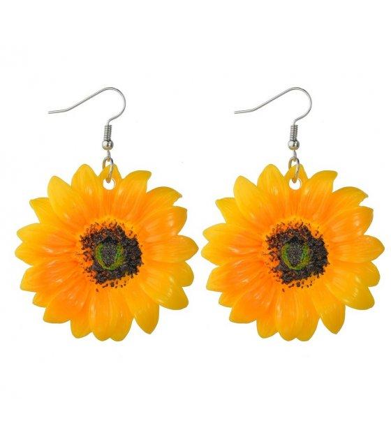 E1043 - Korean acrylic sunflower earrings