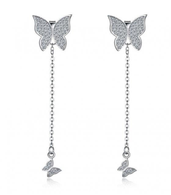 E1045 - Butterfly Tassel Korean Fashion Earrings
