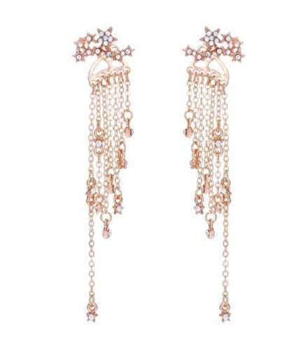 E1049 - Five-pointed star tassels Hanging Earrings
