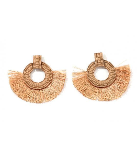 E1051 - American fashion tassel earrings