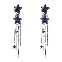 E1059 - Tassel crystal earrings