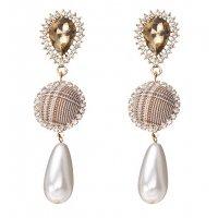 E1065 - Retro plaid earrings