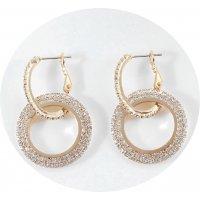 E1067 - Korean geometric circle earrings