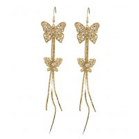 E1070 - Fashion bow diamond earrings