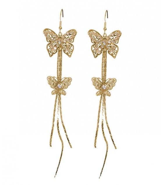 E1070 - Fashion bow diamond earrings