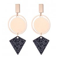 E1082 - Geometric polygon earrings