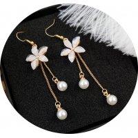 E1108 - Long tassel earrings