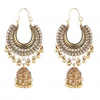 E1113 - Retro tassel hanging moon bell earrings