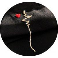 E1128 - Heartbeat asymmetry Love Earrings