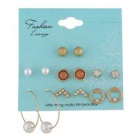 E1131 - Fashion diamond pearl earrings