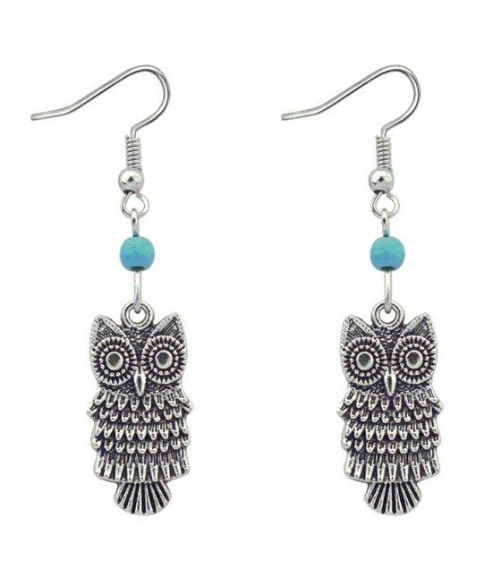 E1134 - Retro fashion cute owl earrings