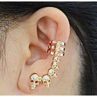 E1137 - Hanging skull Earrings