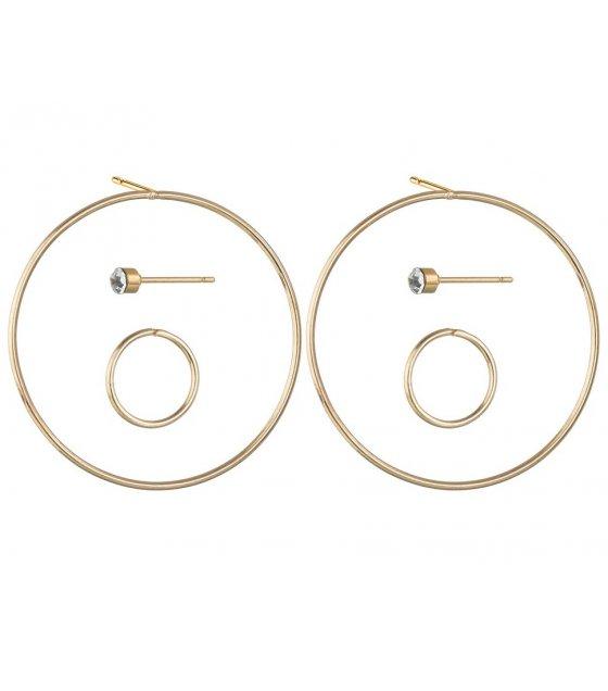 E1139 - Circular women's earring set