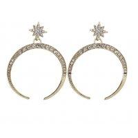 E1145 - Crescent diamond earrings