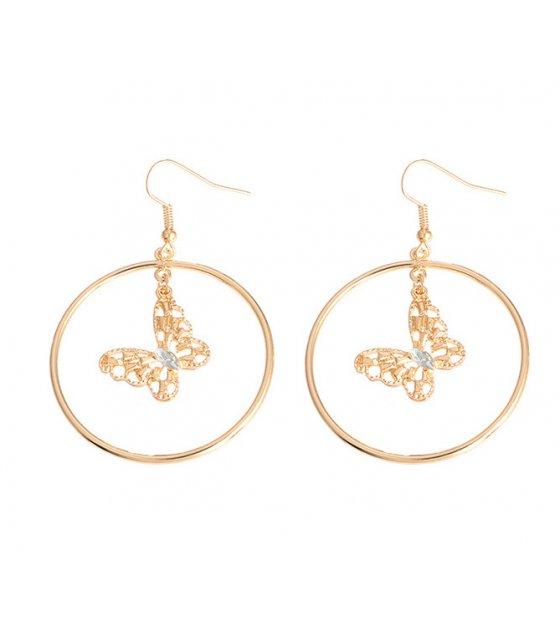 E1151 - Geometric round earrings
