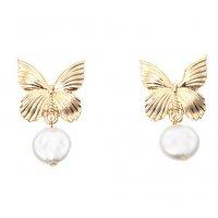 E1153 - Metal butterfly earrings
