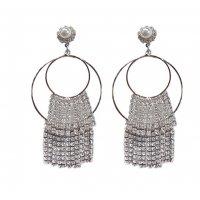 E1162 - Exaggerated long tassel earrings