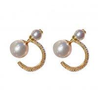 E1164 - Star pearl earrings