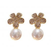 E1165 - Diamond Flower Earrings
