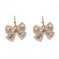 E1170 - French bow pearl earrings