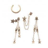 E1183 - Five-pointed star tassel Earrings