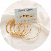 E1187 - Big circle simple set earrings