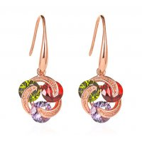 E1189 - Simple inlaid zircon earrings