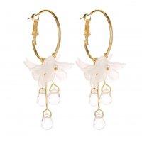 E1190 - Fashion crystal flower earrings