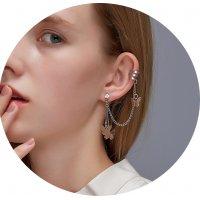 E1194 - Tassel butterfly earrings