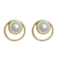 E1198 - Korean temperament fashion simple round earrings