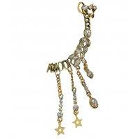 E1206 - Diamond retro ear bone one earrings