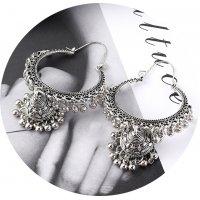 E1208 - Bells tassel hollow earrings