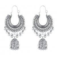 E1209 - Retro tassel hanging moon bell earrings